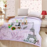 Hotel pure cotton fabric white duvet printed goose down filling wedding comforter set from china suppier