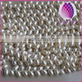 5-6mm Natural white Freshwater pearls price,AAA grade rice Pearls