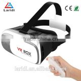 Fashion Google Cardboard virtual reality 3d glasses vr box 2.0 with bluetooth controller for AR movies and games