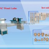 2015 hot!hot!!hot sale!!!cnc wood lathe machine/cnc wood turning lathe/baseball bat cnc wood lathe with 2 knives