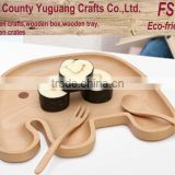 Elephant shape tray,kids breakfast tray,natural wooden tray