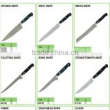 stock kitchenware houseware, kitchen knife stocklots overstock Mincing bread knife blades pizza knife close out