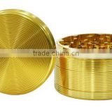 Golden weed grinder for smoking