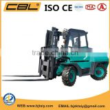Diesel engine forklift /all wheel drive fork lift truck/power and low fuel consumption forklift