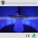 led bar furniture/multicolor change battery operated light up led bar table