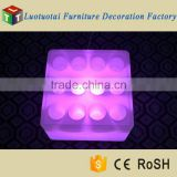 L43*W43*H26cm LED Bar Furniture Illuminated LED wine track/square clear plastic tray/wine glass tray