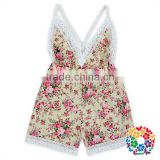 Wholesale New Fashion Bay Summer Cotton Onesie Floral Romper White Lace Childrens Playsuit