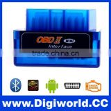 Mini V1.5 ELM327 OBD2 Bluetooth Interface Auto Car Scanner obdii obd ii Diagnostic Tool works on Android Windows Symbian