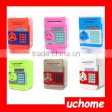 UCHOME Square ABS Plastic ATM Automatic volume of money piggy bank,password Vault piggy bank