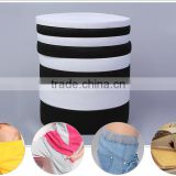 Elastic Feature and Garment Use fold over elastic tape