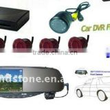 Auto Bluetooth DVR Rearview Mirror with Camera Parking Sensor