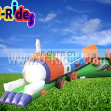 Inflatable Worm train Tunnel bouncer game for kids