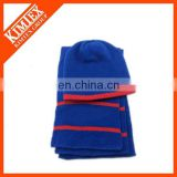 Free sample available latest custom wholesale knitted hat scarf attached knitted set