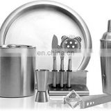 High quality stainless steel cocktail shaker set bartender set bar tool set