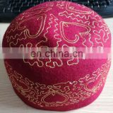 Nigeria Wool felt embroidery islamic prayer caps muslim cap