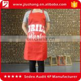 custom logo printed waterproof 100% Polyester carton work kitchen waist apron