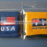 Sports Cotton Country Flag Sweatbands