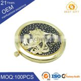 Gold compact mirror, cosmetic mirror, makeup mirror for sale