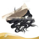 Virgin Hair Type Ear To Ear Lace Frontals Natural Hairline Body Wave 50g