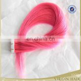 wholesale Malaysian Human Hair Blonde color skin tape weft hair