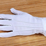 Parade honor guard manner white cotton gloves