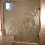 5mm 4.8mm 4mm art acid etched decorative glass
