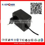 2015 K-102 YGY 100-240vac wall mount single output switching ac/ac 12V0.8A Linear power adaptor