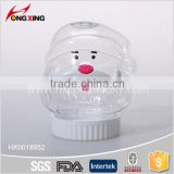 Santa Claus shaped design pet candy storage can plastic food container for houseware                                                                         Quality Choice