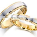 wholesale customized fashion jewelry flat couple ring wedding rings promise rings for lovers