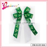 Made in China factory product wholesale clover ribbon bow hairgrips cheerleading hair accessories (SYC-0040)