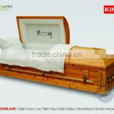 solid mahogany wood casket full couch funeral product CEDARLAND chinese solid wood casket