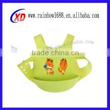 Non-toxic feeding food pure color flexible silicone baby bib,waterproof silicone baby bib,baby silicone bibs wholesale