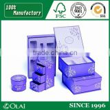 Purple White Lining Perfume Box Packaging