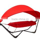 2014 Luxury KD Design Metal Stand Waterproof Canopy And Cushion Outdoor Folding Hammock With Canopy
