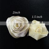 artificial flower ball lastest wedding stage decoration -satin fabric rosette chiffon flowers
