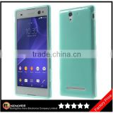 Keno Outer Glossy Inner Matte TPU Gel Cover Case for Sony Xperia C3