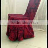 beauty salon chair cover , fancy jacquard chair cover , wedding rosette chair cover