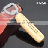 Custom Laser Engraved Names Wedding Souvenir Wooden Handle Stainless Steel Metal Beer Opener Wood