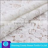 Textile supplier Elegant Net white rayon nylon bridal lace fabric wholesale