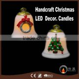 Christmas Bell decoration Real wax candles with good hand painting                                                                         Quality Choice