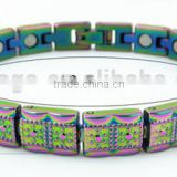 rainbow bracelet, with 4 in 1 health care, including 3000 Gs magnets, far infrared, negative ions and germanium
