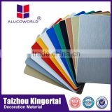 Alucoworld Light Weight outdoor using plastic wall decorative pdvf aluminium composite panel