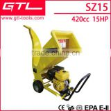 15HP 10CM gasoline/petrol wood chipper shredder with electric start                                                                         Quality Choice
