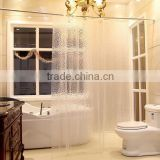 3D EVA mildew Custom waterproof bathroom shower curtain