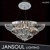 fancy art glass bowl modern crystal pendant light