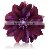 2013 New design DIY brooch flower fabric flower with drill flowers OEM H-79