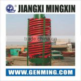 Glass fiber reinforced plastic spiral gravity separator for size 0.02mm to 0.3mm Ore grain