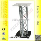 LE04 Stable Base Desktop Lectern, Tray 500*500mm with High Quality Crystal Acrylic Plates