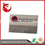 New design matt beautiful plated metal card with printing
