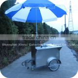 2014 Brand New Simple Small Two Bicycle Wheels Bike Axle Hot Dog Push Cart for Sale XR-HD100 A